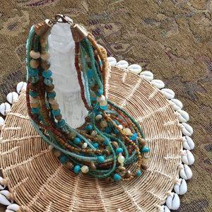 Multi-strands of multi-colors necklace!